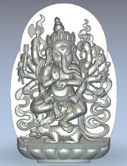 Pano god elephant Ganesha wood carving file stl for Artcam and Aspire jdpaint free vector art 3d model download for CNC