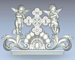 Pattern Angel Head wood carving file stl for Artcam and Aspire jdpaint free vector art 3d model download for CNC