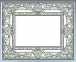 Picture frame file RLF for Artcam 9 and Aspire free vector art 3d model download for CNC wood carving