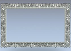 Picture frame horizontal file RLF for Artcam 9 and Aspire free vector art 3d model download for CNC wood carving
