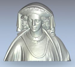 Queen Margaret wood carving file stl for Artcam and Aspire jdpaint free vector art 3d model download for CNC