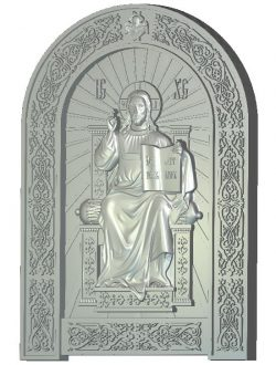 Savior on the throne wood carving file RLF for Artcam 9 and Aspire free vector art 3d model download for CNC