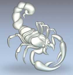 Scorpio file RLF for Artcam 9 and Aspire free vector art 3d model download for CNC wood carving