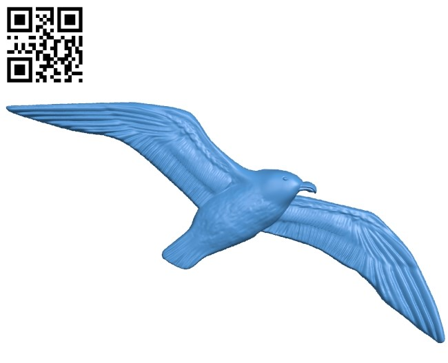 Sea gull A000781 wood carving file stl for Artcam and Aspire free art 3d model download for CNC