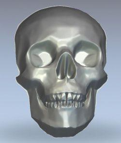Skull wood carving file stl for Artcam and Aspire jdpaint free vector art 3d model download for CNC