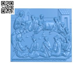 The Last Supper A000777 wood carving file stl for Artcam and Aspire free art 3d model download for CNC