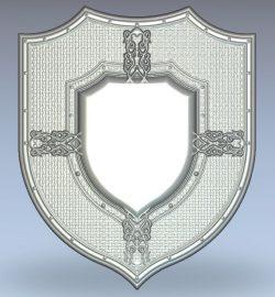 Trophy Medallion wood carving file stl for Artcam and Aspire jdpaint free vector art 3d model download for CNC