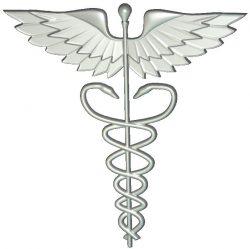 US Medical Service Emblem wood carving file RLF for Artcam 9 and Aspire free vector art 3d model download for CNC