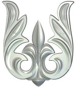 Vignette file RLF for Artcam 9 and Aspire free vector art 3d model download for CNC wood carving