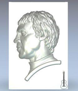 Vysotsky V.S. Profile wood carving file stl for Artcam and Aspire jdpaint free vector art 3d model download for CNC