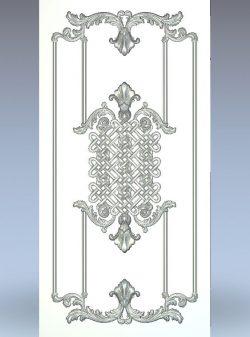 Wicker door wood carving file stl for Artcam and Aspire jdpaint free vector art 3d model download for CNC