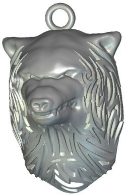 Wolf head file RLF for Artcam 9 and Aspire free vector art 3d model download for CNC wood carving
