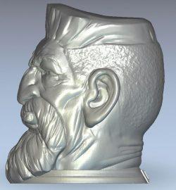 Zombie hunter wood carving file stl for Artcam and Aspire jdpaint free vector art 3d model download for CNC