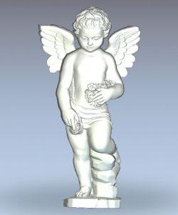 Angel child wood carving file stl for Artcam and Aspire jdpaint free vector art 3d model download for CNC