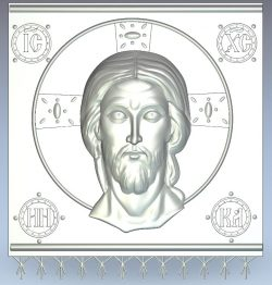 face jesus file RLF for Artcam 9 and Aspire free vector art 3d model download for CNC wood carving