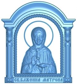 icon of the holy blessed matron wood carving file RLF for Artcam 9 and Aspire free vector art 3d model download for CNC