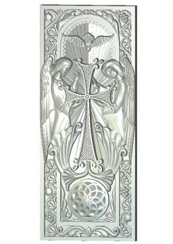 panel Khachkar wood carving file RLF for Artcam 9 and Aspire free vector art 3d model download for CNC