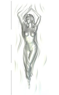 woman let go of the curtain wood carving file RLF for Artcam 9 and Aspire free vector art 3d model download for CNC