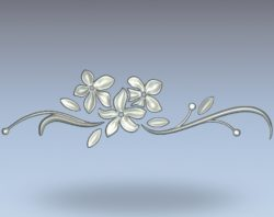 Apricot flowers pattern wood carving file stl for Artcam and Aspire jdpaint free vector art 3d model download for CNC