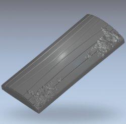 Ark lid cover pattern wood carving file stl for Artcam and Aspire jdpaint free vector art 3d model download for CNC