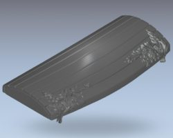 Ark lid pattern wood carving file stl for Artcam and Aspire jdpaint free vector art 3d model download for CNC