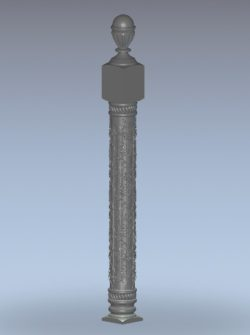 Balustrade pillar pattern wood carving file stl for Artcam and Aspire jdpaint free vector art 3d model download for CNC