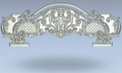 Bed pattern on both sides wood carving file stl for Artcam and Aspire jdpaint free vector art 3d model download for CNC