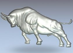 Bull wall street wood carving file stl for Artcam and Aspire jdpaint free vector art 3d model download for CNC
