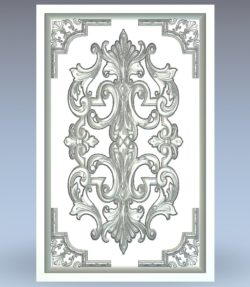 Cabinet panel window wood carving file stl for Artcam and Aspire jdpaint free vector art 3d model download for CNC