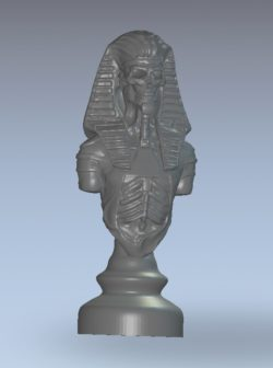 Chess pharaon wood carving file stl for Artcam and Aspire jdpaint free vector art 3d model download for CNC