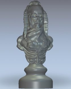 Chess undead pawn wood carving file stl for Artcam and Aspire jdpaint free vector art 3d model download for CNC