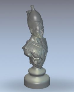 Chessmen bishop wood carving file stl for Artcam and Aspire jdpaint free vector art 3d model download for CNC