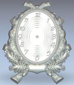Chestnut tree clock wood carving file stl for Artcam and Aspire jdpaint free vector art 3d model download for CNC