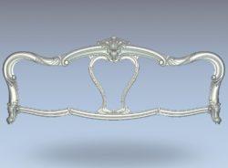 Classic bedside frame pattern wood carving file stl for Artcam and Aspire jdpaint free vector art 3d model download for CNC