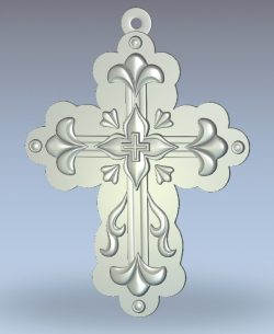 Cross pattern wood carving file stl for Artcam and Aspire jdpaint free vector art 3d model download for CNC