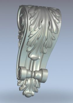Curly head column pattern on both sides wood carving file stl for Artcam and Aspire jdpaint free vector art 3d model download for CNC