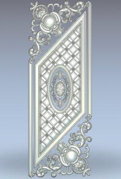 Flattened door pattern wood carving file stl for Artcam and Aspire jdpaint free vector art 3d model download for CNC