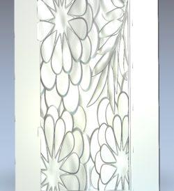 Flower petals pattern wood carving file stl for Artcam and Aspire jdpaint free vector art 3d model download for CNC