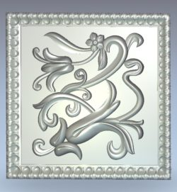 Flower-shaped square pattern wood carving file stl for Artcam and Aspire jdpaint free vector art 3d model download for CNC