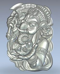 God elephant ganesha ax wood carving file stl for Artcam and Aspire jdpaint free vector art 3d model download for CNC