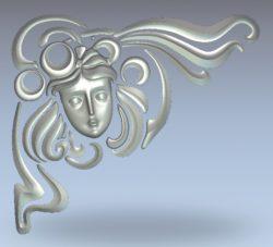 Goddess face pattern wood carving file stl for Artcam and Aspire jdpaint free vector art 3d model download for CNC