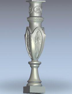 Lamp-shaped column pattern wood carving file stl for Artcam and Aspire jdpaint free vector art 3d model download for CNC