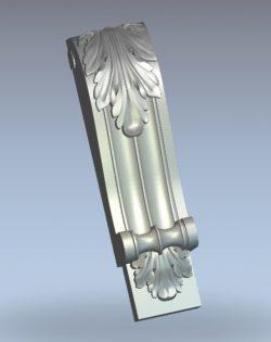 Leaf-shaped column head pattern bends wood carving file stl for Artcam and Aspire jdpaint free vector art 3d model download for CNC