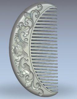 Lotus shaped comb wood carving file stl for Artcam and Aspire jdpaint free vector art 3d model download for CNC