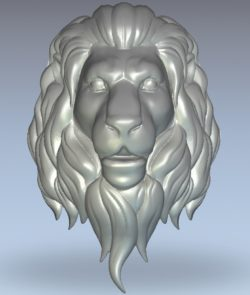 Male lion head wood carving file stl for Artcam and Aspire jdpaint free vector art 3d model download for CNC