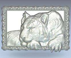 Mural tiger wood carving file stl for Artcam and Aspire jdpaint free vector art 3d model download for CNC