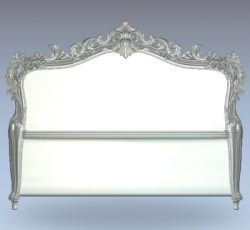 Neoclassical bed frame carving file stl for Artcam and Aspire jdpaint free vector art 3d model download for CNC