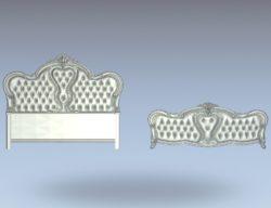 Noble bed frame set wood carving file stl for Artcam and Aspire jdpaint free vector art 3d model download for CNC