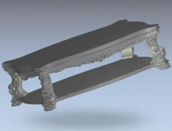Parts of a model table wood carving file stl for Artcam and Aspire jdpaint free vector art 3d model download for CNC