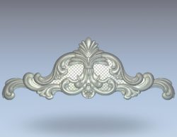 Pattern behind the bed lined two sides wood carving file stl for Artcam and Aspire jdpaint free vector art 3d model download for CNC